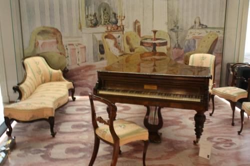 Inside Chopin Museum with original piano played by him. Photo by Richard Varr