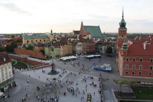 Old Town Warsaw from above. Photo by Richard Varr