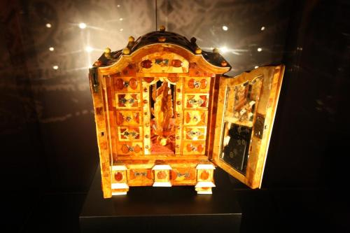 18th century amber cabinet at Malbork Castle. Photo by Richard Varr