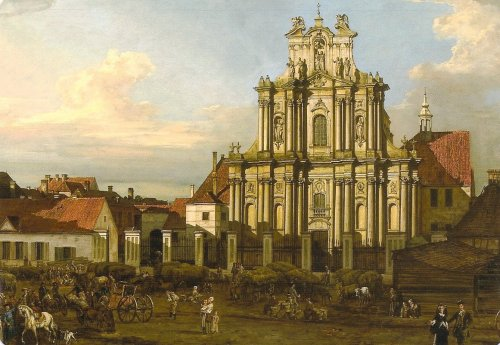 Bellotto's view painting of the Church of the Visitation. Courtesy Royal Castle, Warsaw