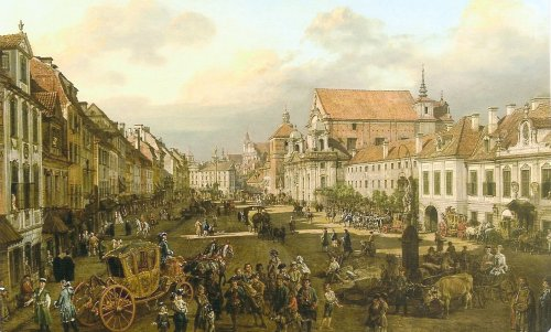 Bellotto's view of the Royal Way. Courtesy Royal Castle, Warsaw.
