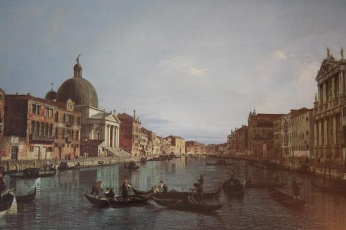 View of Grand Canal with the Church of San Simeone Piccolo. National Gallery, London