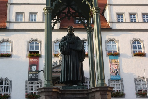 Martin Luther Statue, Wittenberg. Photo by Richard Varr