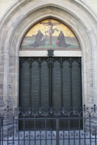 Church door, Castle Church, Wittenberg. Photo by Richard Varr