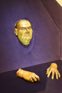 Luther cast of death mask and hands, Halle. Photo by Richard Varr