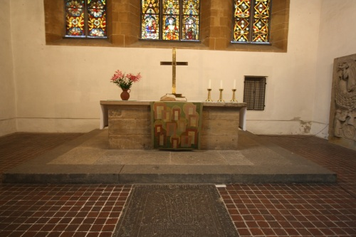 Altar of Luther's first sermon, Erfurt. Photo by Richard Varr